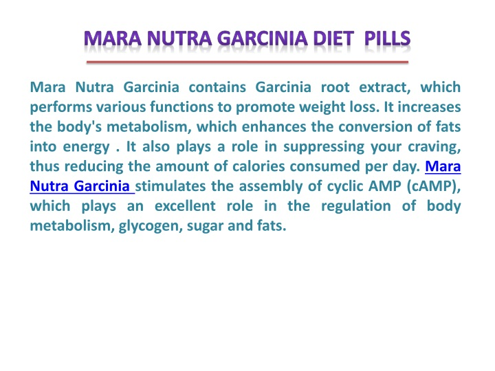 mara nutra garcinia contains garcinia root n.
