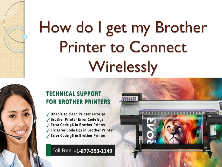 how do i get my brother printer to connect wirelessly n.