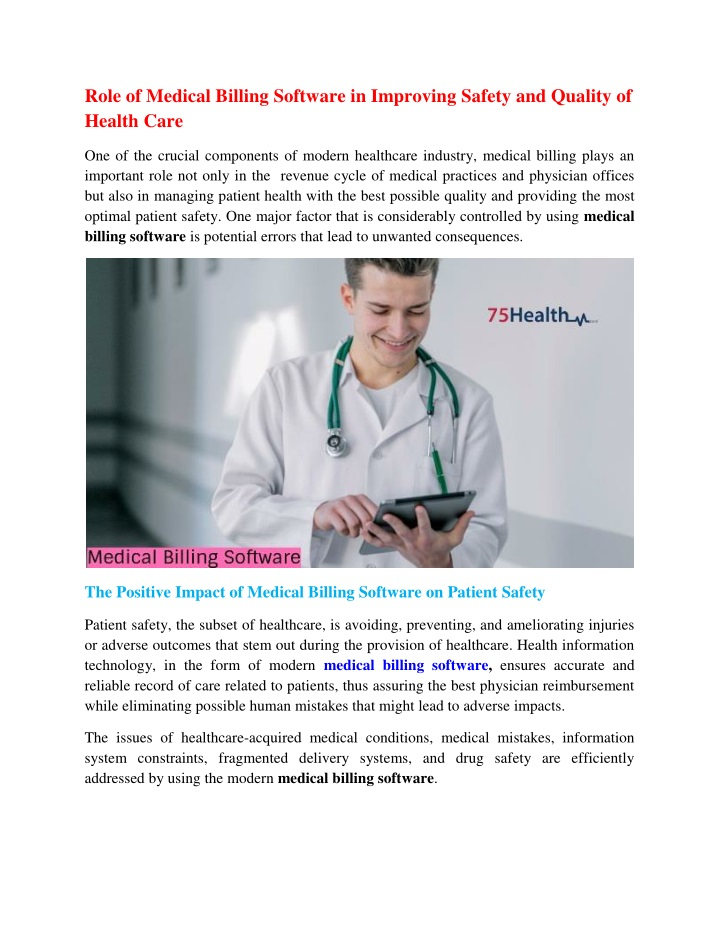 role of medical billing software in improving n.