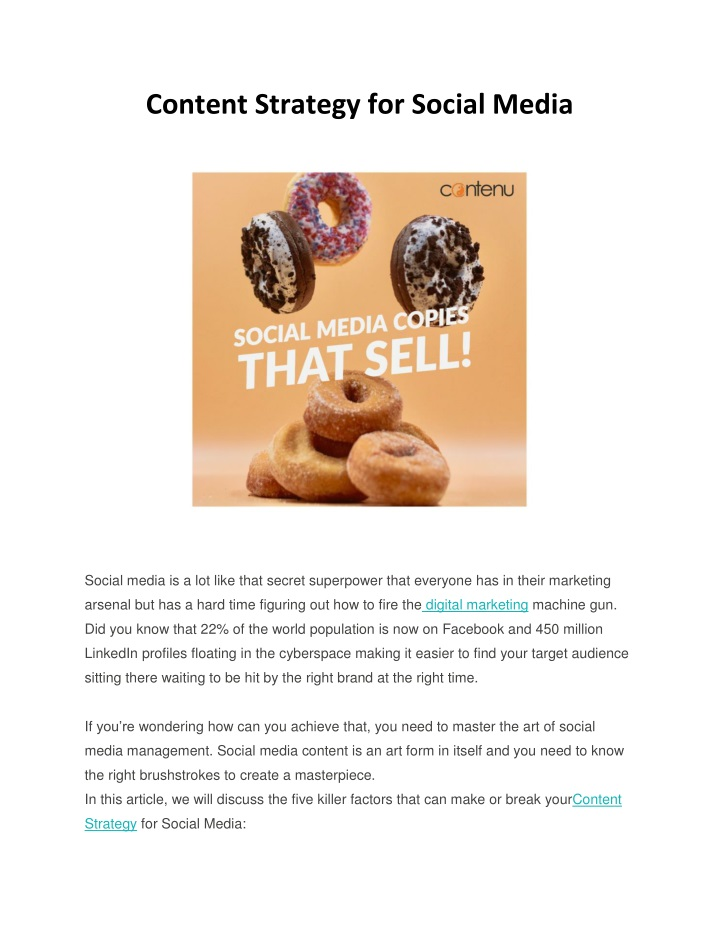 content strategy for social media n.