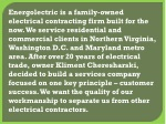 energolectric is a family owned electrical