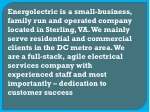 energolectric is a small business family