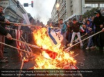 iranians burn u s flags during a ceremony to mark 1