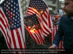 iranians burn u s flags during a ceremony to mark