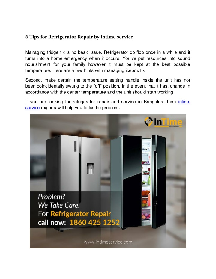 6 tips for refrigerator repair by intime service n.