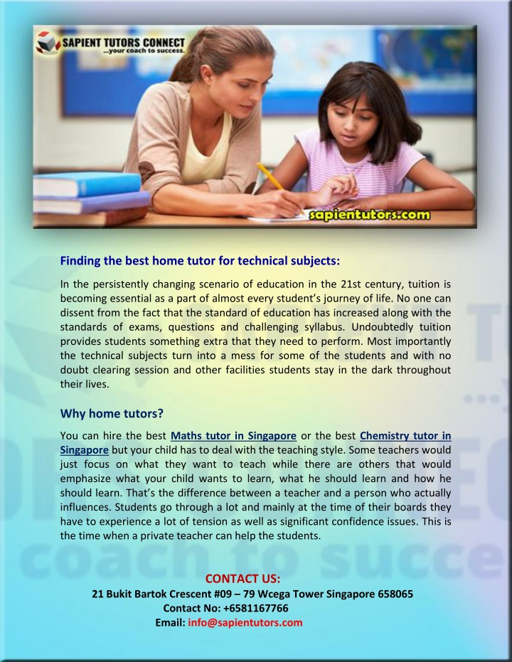 finding the best home tutor for technical subjects n.