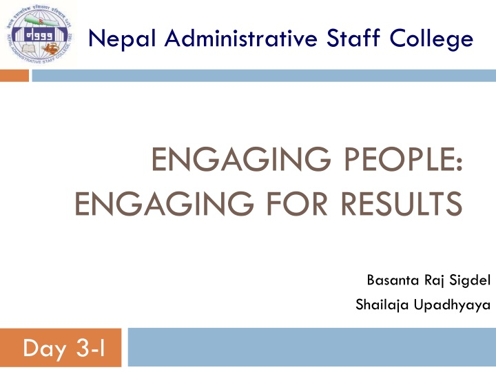engaging people engaging for results n.