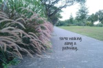 you re walking along a pathway