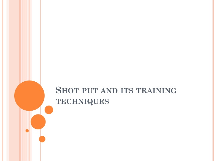 shot put and its training techniques n.