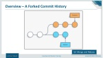 overview a forked commit history