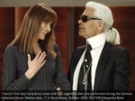 france s first lady carla bruni chats with karl