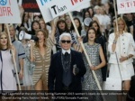 karl lagerfeld at the end of his spring summer