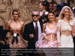 karl lagerfeld is surrounded by top models