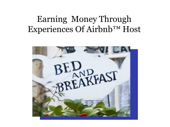 earning money through experiences of airbnb host n.