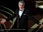 alfonso cuaron accepts the best director award