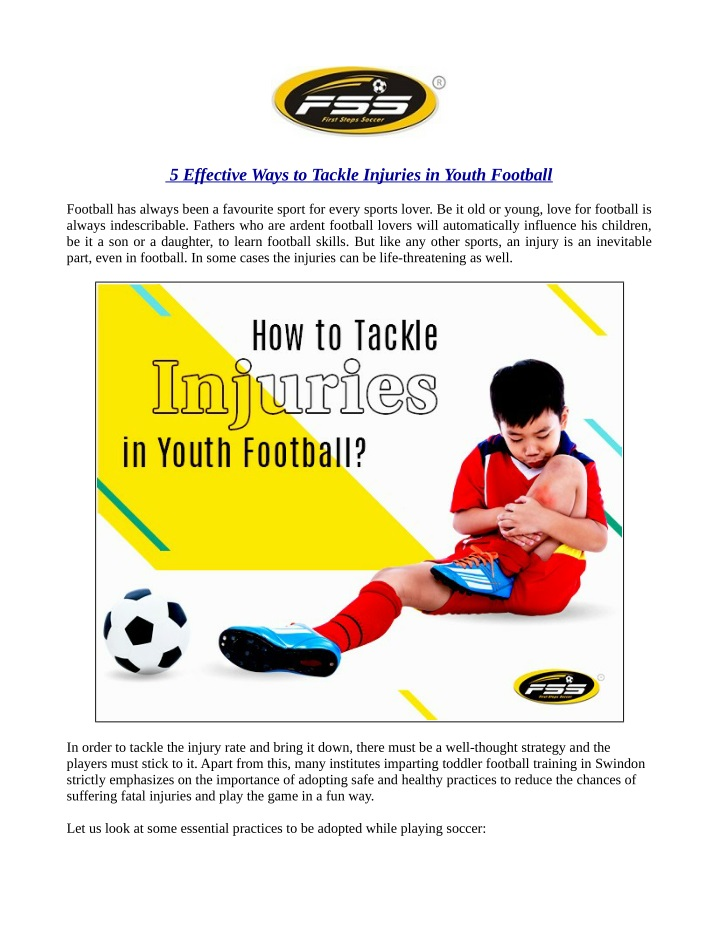 5 effective ways to tackle injuries in youth n.