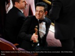 rami malek holds his best actor oscar