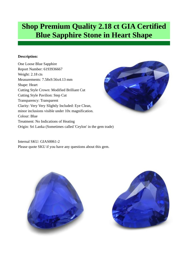 shop premium quality 2 18 ct gia certified blue n.