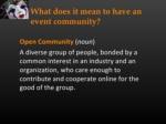 open community noun a diverse group of people