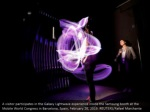 a visitor participates in the galaxy lightwave