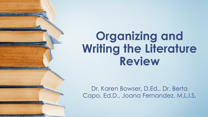 organizing and writing the literature review n.