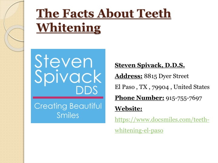 the facts about teeth whitening n.