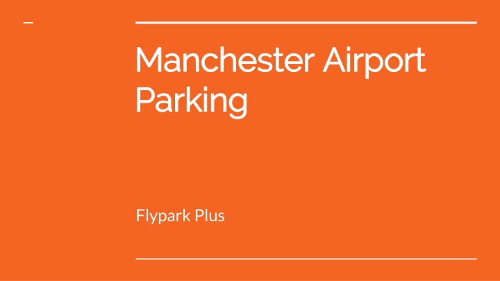 manchester airport parking n.