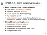 cpc4 3 4 core learning issues ul li basic science