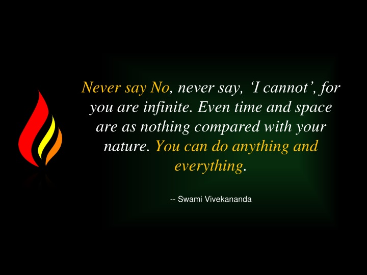 never say no never say i cannot n.