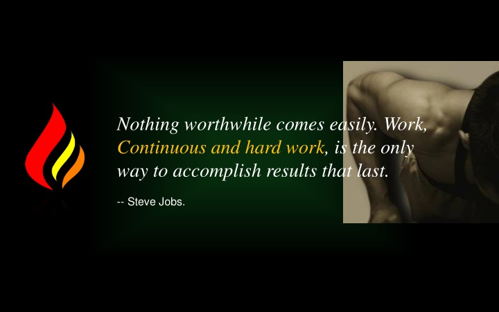 nothing worthwhile comes easily work continuous n.