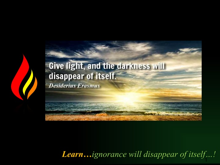 learn ignorance will disappear of itself n.