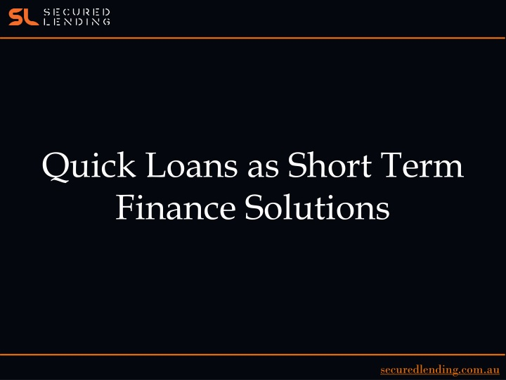 quick loans as short term finance solutions n.