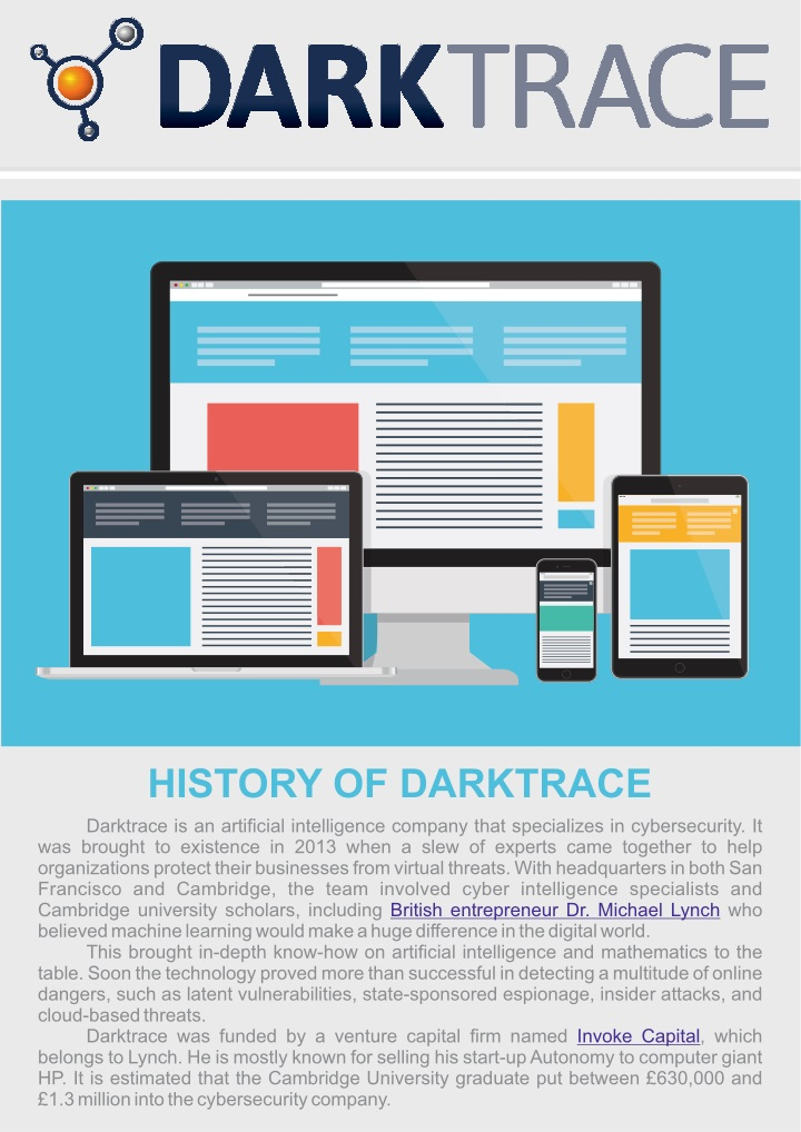 PPT - Darktrace Cyber Security Startup History PowerPoint
