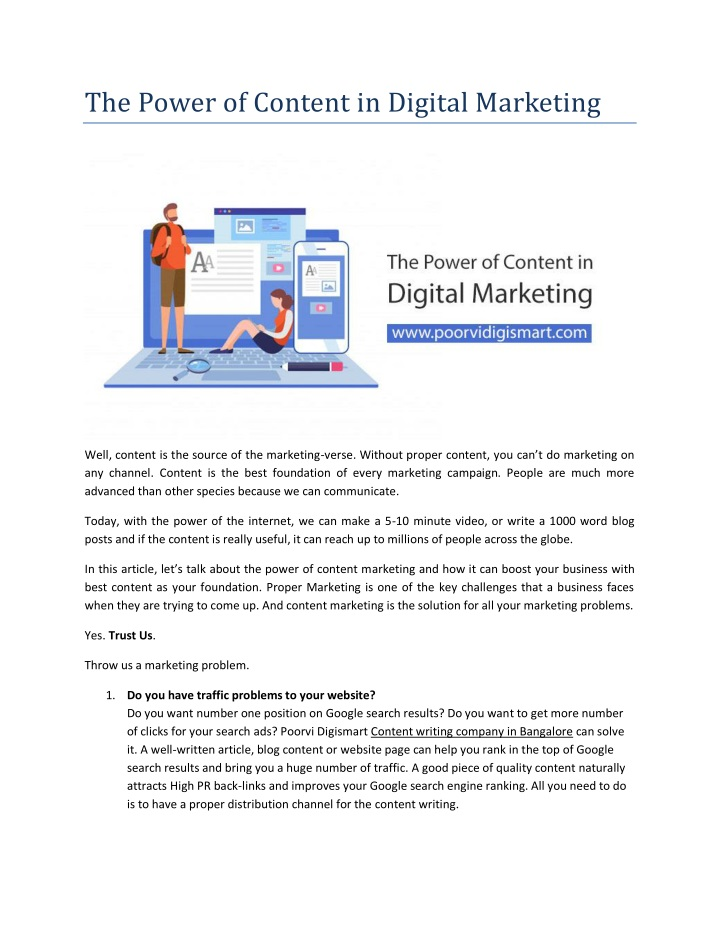 the power of content in digital marketing n.