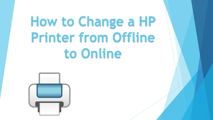 how to change a hp printer from offline to online n.