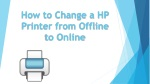 how to change a hp printer from offline to online