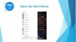 open the start menu