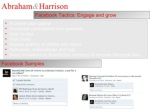 abraham harrison facebook tactics engage and grow