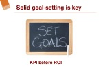 solid goal setting is key