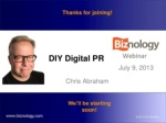 diy digital pr online engagement blogger outreach