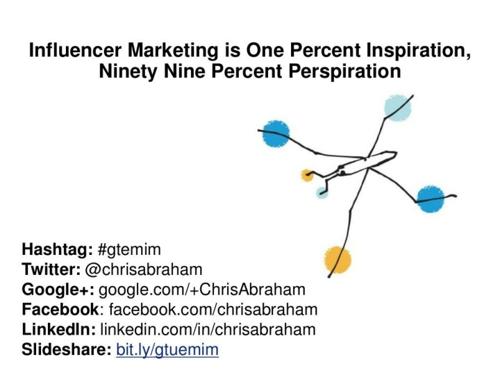 influencer marketing is one percent inspiration ninety nine percent perspiration n.