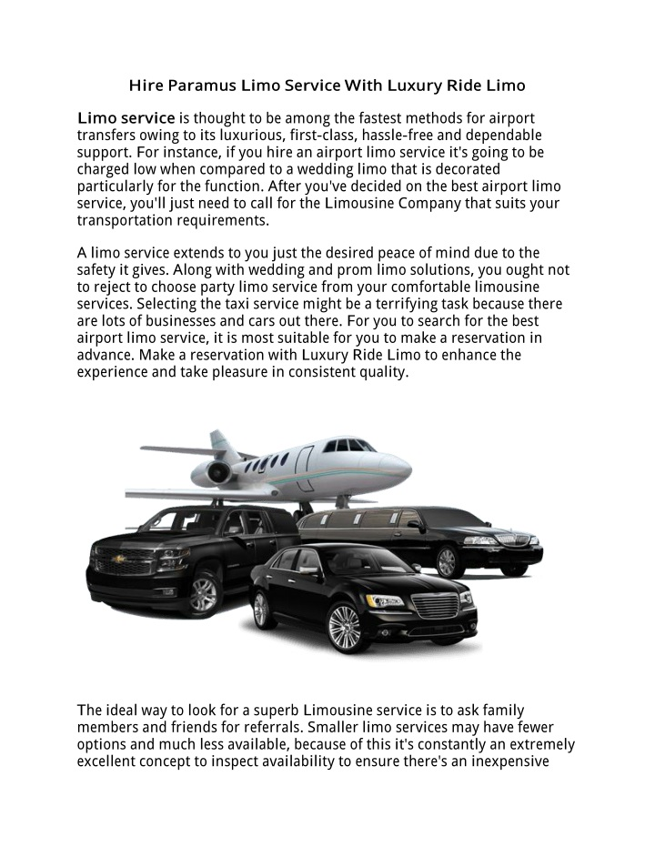 h ire paramus limo service w ith luxury r ide limo n.