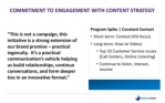 commitment to engagement with content strategy