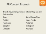 pr content expandsbrands have many avenues where
