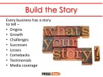 build the story
