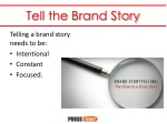 tell the brand story