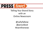 telling your brand story with an online newsroom
