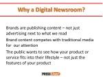why a digital newsroom