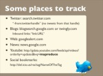 some places to track twitter search twitter 6