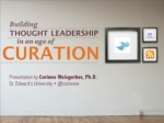 building thought leadership through content curation